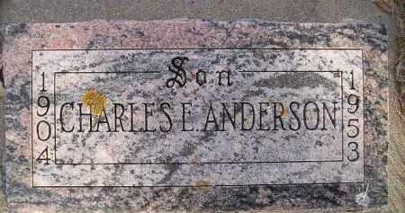 ANDERSON, CHARLES E. - Miner County, South Dakota   CHARLES E. ANDERSON - South Dakota Gravestone Photos