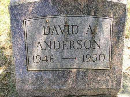 ANDERSON, DAVID A. - Miner County, South Dakota | DAVID A. ANDERSON - South Dakota Gravestone Photos