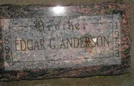 ANDERSON, EDGAR G. - Miner County, South Dakota   EDGAR G. ANDERSON - South Dakota Gravestone Photos