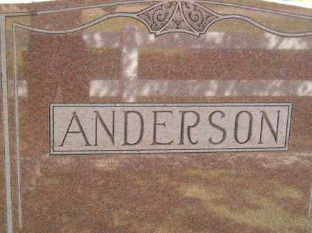 ANDERSON, FAMILY STONE - Miner County, South Dakota | FAMILY STONE ANDERSON - South Dakota Gravestone Photos