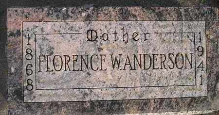 ANDERSON, FLORENCE W. - Miner County, South Dakota | FLORENCE W. ANDERSON - South Dakota Gravestone Photos