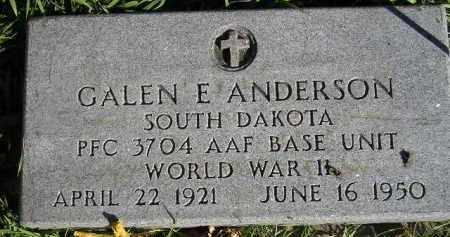 ANDERSON, GALEN E. (WW II) - Miner County, South Dakota | GALEN E. (WW II) ANDERSON - South Dakota Gravestone Photos