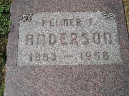ANDERSON, HELMER F. - Miner County, South Dakota | HELMER F. ANDERSON - South Dakota Gravestone Photos