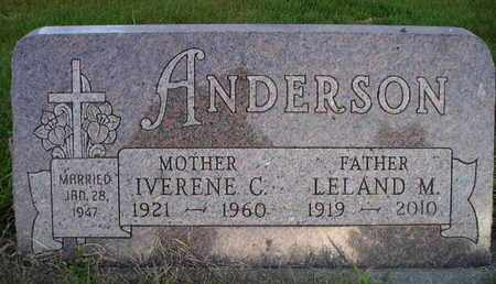 ANDERSON, LELAND MILES - Miner County, South Dakota | LELAND MILES ANDERSON - South Dakota Gravestone Photos
