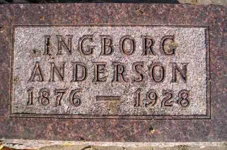 ANDERSON, INGBORG - Miner County, South Dakota | INGBORG ANDERSON - South Dakota Gravestone Photos