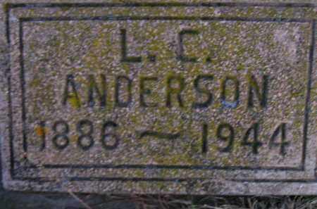 ANDERSON, L.C. - Miner County, South Dakota | L.C. ANDERSON - South Dakota Gravestone Photos