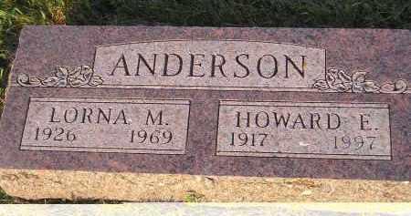 ANDERSON, LORNA M. - Miner County, South Dakota | LORNA M. ANDERSON - South Dakota Gravestone Photos