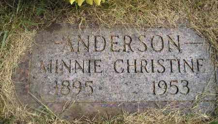 ANDERSON, MINNIE CHRISTINE - Miner County, South Dakota   MINNIE CHRISTINE ANDERSON - South Dakota Gravestone Photos