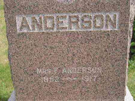 ANDERSON, MARGARET - MRS. FINGAR - Miner County, South Dakota   MARGARET - MRS. FINGAR ANDERSON - South Dakota Gravestone Photos