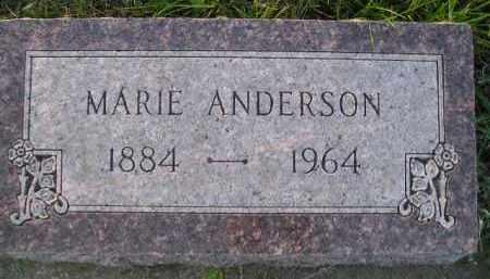 ANDERSON, MARIE HAUGE - Miner County, South Dakota | MARIE HAUGE ANDERSON - South Dakota Gravestone Photos