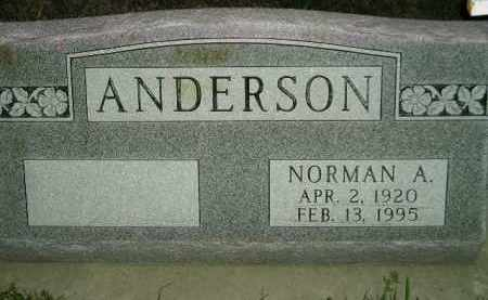 ANDERSON, NORMAN A. - Miner County, South Dakota   NORMAN A. ANDERSON - South Dakota Gravestone Photos