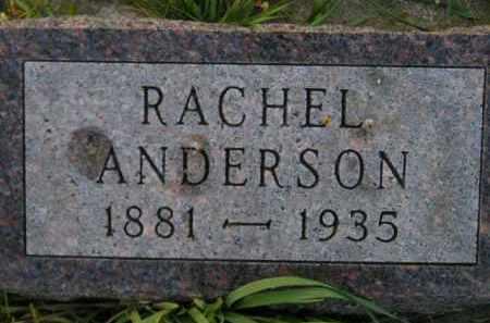 ANDERSON, RACHEL - Miner County, South Dakota | RACHEL ANDERSON - South Dakota Gravestone Photos