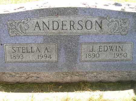 ANDERSON, STELLA A. - Miner County, South Dakota | STELLA A. ANDERSON - South Dakota Gravestone Photos