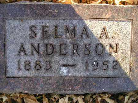 ANDERSON, SELMA A. - Miner County, South Dakota | SELMA A. ANDERSON - South Dakota Gravestone Photos