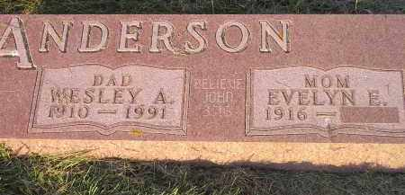 ANDERSON, EVELYN E. - Miner County, South Dakota | EVELYN E. ANDERSON - South Dakota Gravestone Photos