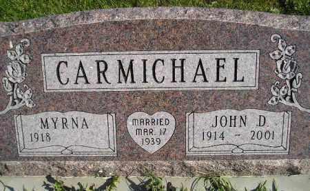 CARMICHAEL, JOHN D. - Miner County, South Dakota | JOHN D. CARMICHAEL - South Dakota Gravestone Photos