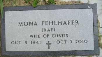 RAE FEHLHAFER, MONA - Miner County, South Dakota   MONA RAE FEHLHAFER - South Dakota Gravestone Photos