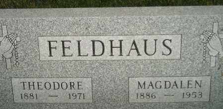 NEISES FELDHAUS, MAGDALEN - Miner County, South Dakota   MAGDALEN NEISES FELDHAUS - South Dakota Gravestone Photos