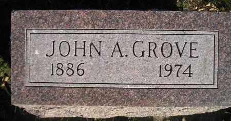 GROVE, JOHN A. - Miner County, South Dakota   JOHN A. GROVE - South Dakota Gravestone Photos