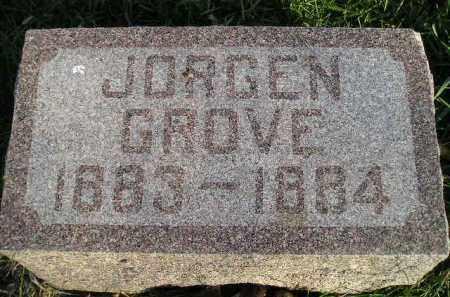 GROVE, JORGEN - Miner County, South Dakota   JORGEN GROVE - South Dakota Gravestone Photos