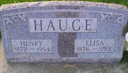 HAUGE, HENRY - Miner County, South Dakota | HENRY HAUGE - South Dakota Gravestone Photos