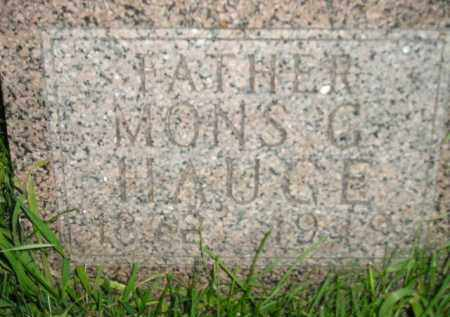 HAUGE, MONS G. - Miner County, South Dakota | MONS G. HAUGE - South Dakota Gravestone Photos