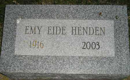 EIDE HENDEN, EMY - Miner County, South Dakota   EMY EIDE HENDEN - South Dakota Gravestone Photos
