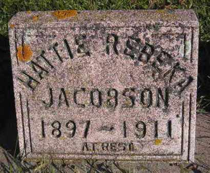 JACOBSON, HATTIE REBEKA - Miner County, South Dakota | HATTIE REBEKA JACOBSON - South Dakota Gravestone Photos