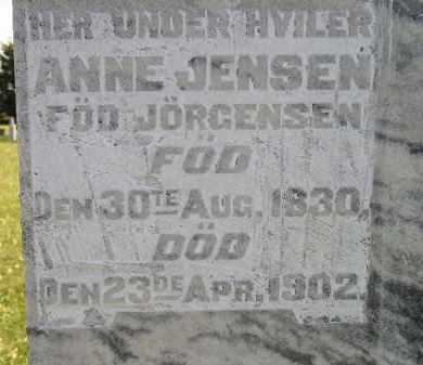 JENSEN, ANNE - Miner County, South Dakota   ANNE JENSEN - South Dakota Gravestone Photos