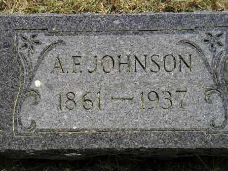 JOHNSON, A.F. - Miner County, South Dakota | A.F. JOHNSON - South Dakota Gravestone Photos