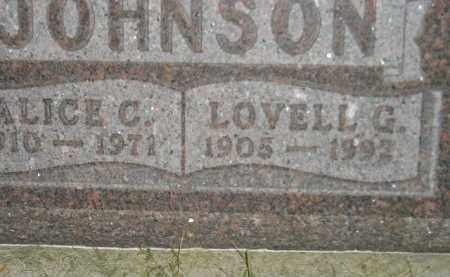 JOHNSON, ALICE C. - Miner County, South Dakota | ALICE C. JOHNSON - South Dakota Gravestone Photos