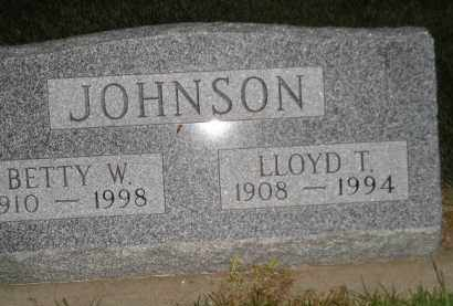 JOHNSON, BETTY W. - Miner County, South Dakota | BETTY W. JOHNSON - South Dakota Gravestone Photos
