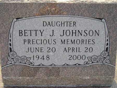 JOHNSON, BETTY J. - Miner County, South Dakota | BETTY J. JOHNSON - South Dakota Gravestone Photos