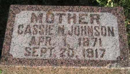 JOHNSON, CASSIE M. - Miner County, South Dakota | CASSIE M. JOHNSON - South Dakota Gravestone Photos