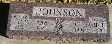 JOHNSON, CHARLIE ANN - Miner County, South Dakota | CHARLIE ANN JOHNSON - South Dakota Gravestone Photos