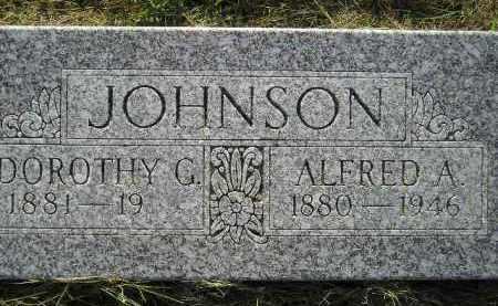 JOHNSON, ALFRED A. - Miner County, South Dakota | ALFRED A. JOHNSON - South Dakota Gravestone Photos