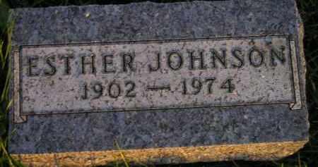 JOHNSON, ESTHER - Miner County, South Dakota | ESTHER JOHNSON - South Dakota Gravestone Photos