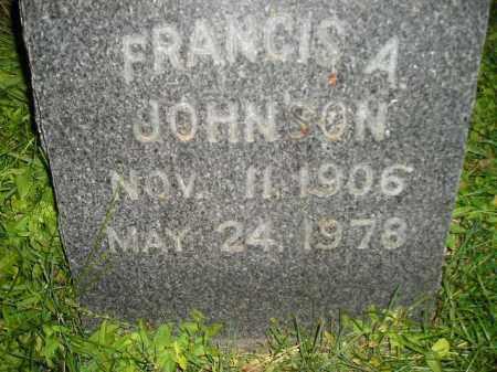 JOHNSON, FRANCIS A. - Miner County, South Dakota | FRANCIS A. JOHNSON - South Dakota Gravestone Photos
