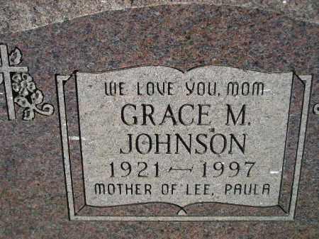 JOHNSON, GRACE M. - Miner County, South Dakota | GRACE M. JOHNSON - South Dakota Gravestone Photos