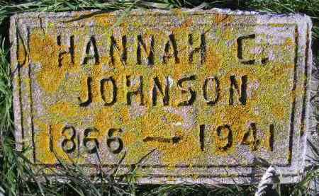 JOHNSON, HANNAH C. - Miner County, South Dakota | HANNAH C. JOHNSON - South Dakota Gravestone Photos