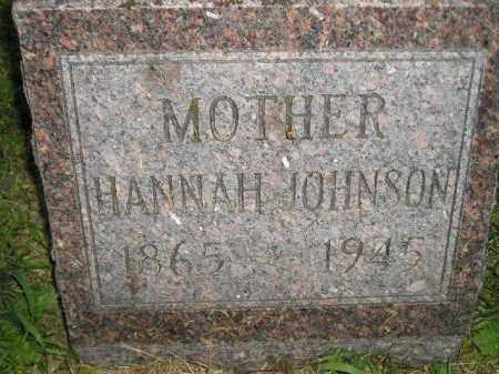 JOHNSON, HANNAH - Miner County, South Dakota | HANNAH JOHNSON - South Dakota Gravestone Photos