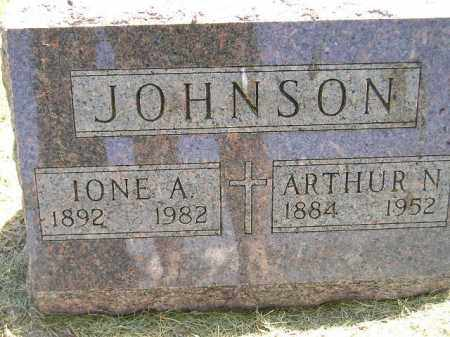 JOHNSON, IONE A. - Miner County, South Dakota | IONE A. JOHNSON - South Dakota Gravestone Photos