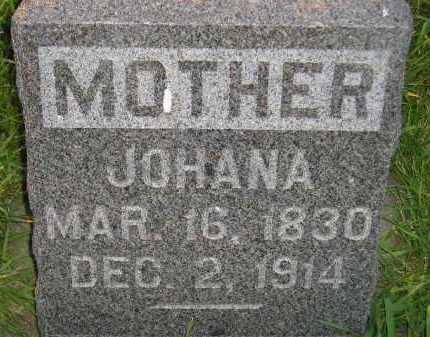JOHNSON, JOHANA - Miner County, South Dakota   JOHANA JOHNSON - South Dakota Gravestone Photos