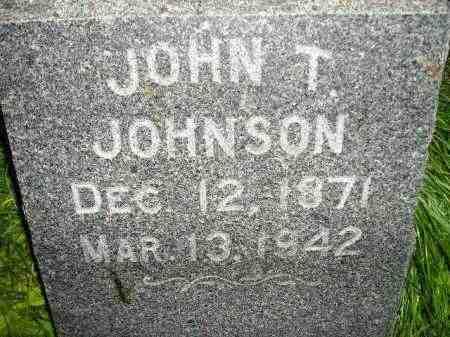 JOHNSON, JOHN T. - Miner County, South Dakota   JOHN T. JOHNSON - South Dakota Gravestone Photos