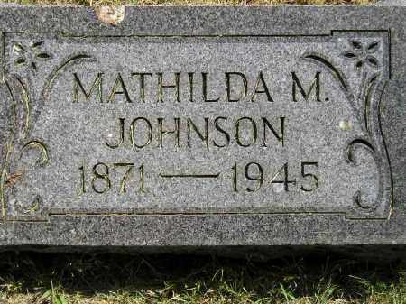 JOHNSON, MATHILDA M. - Miner County, South Dakota | MATHILDA M. JOHNSON - South Dakota Gravestone Photos