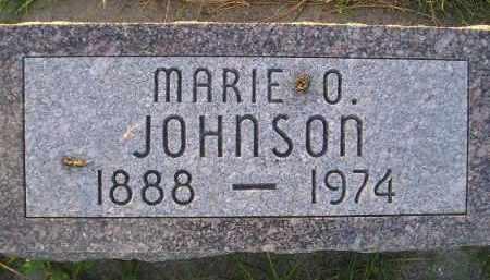 JOHNSON, MARIE O. - Miner County, South Dakota   MARIE O. JOHNSON - South Dakota Gravestone Photos