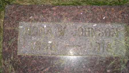 JOHNSON, NORA W. - Miner County, South Dakota | NORA W. JOHNSON - South Dakota Gravestone Photos