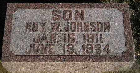 JOHNSON, ROY W. - Miner County, South Dakota | ROY W. JOHNSON - South Dakota Gravestone Photos