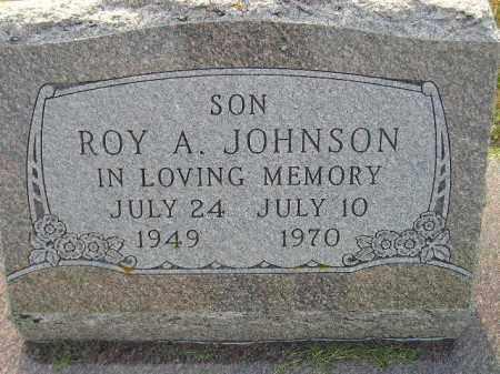 JOHNSON, ROY A. - Miner County, South Dakota | ROY A. JOHNSON - South Dakota Gravestone Photos