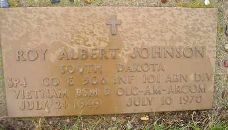 JOHNSON, ROY ALBERT (MILITARY) - Miner County, South Dakota   ROY ALBERT (MILITARY) JOHNSON - South Dakota Gravestone Photos